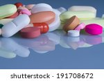 pills and tablets blue tone | Shutterstock . vector #191708672