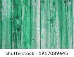 wooden green painted board.... | Shutterstock . vector #1917089645