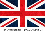 flag of united kingdom with... | Shutterstock .eps vector #1917093452