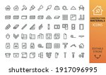 construction materials isolated ... | Shutterstock .eps vector #1917096995
