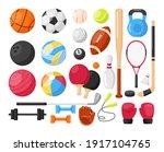 sport equipment. vector icons... | Shutterstock .eps vector #1917104765