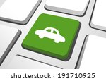 close up of green car computer... | Shutterstock .eps vector #191710925
