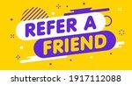 modern banner refer a friend.... | Shutterstock .eps vector #1917112088