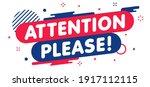 modern banner attention please. ... | Shutterstock .eps vector #1917112115