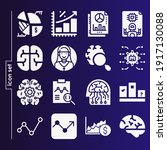 simple set of 16 icons related... | Shutterstock . vector #1917130088