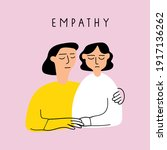 one girl support her friend.... | Shutterstock .eps vector #1917136262