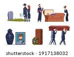 death service. grave ceremony... | Shutterstock .eps vector #1917138032