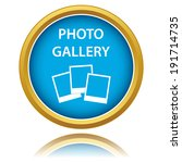 photo gallery icon on a white...
