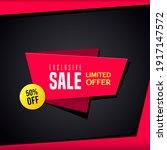 promotional sale banner... | Shutterstock .eps vector #1917147572