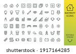 electricity isolated icon set.... | Shutterstock .eps vector #1917164285