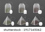 tea bags mockup. realistic... | Shutterstock .eps vector #1917165062