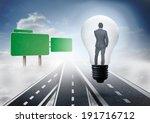 thinking businessman in light... | Shutterstock . vector #191716712