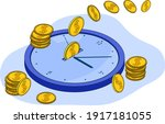 time is money.the concept of... | Shutterstock .eps vector #1917181055