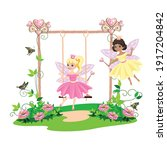 the swing for the princess is... | Shutterstock .eps vector #1917204842