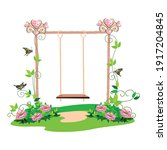 the swing for the princess is... | Shutterstock .eps vector #1917204845
