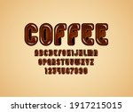 brown glossy rounded font ... | Shutterstock .eps vector #1917215015