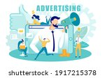 online company advertising and... | Shutterstock .eps vector #1917215378