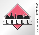 Lille  France Skyline Logo....