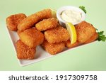 Deep Fried Cod Fish Covered In...