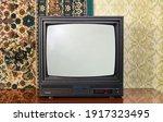 Old Black Vintage Tv Set...