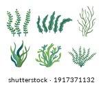 Set Of Different Underwater Sea ...