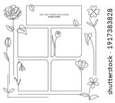 set of floral hand drawn border | Shutterstock .eps vector #1917383828