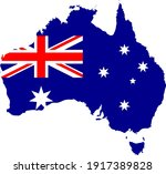 map of australia with... | Shutterstock .eps vector #1917389828
