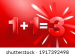 1 plus 1 is 3 banner or web... | Shutterstock .eps vector #1917392498