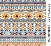 aztec american indian pattern... | Shutterstock .eps vector #1917415298