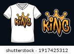 king word with crown graffiti... | Shutterstock .eps vector #1917425312