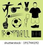 football symbol set | Shutterstock .eps vector #191744192