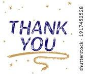 thank you card. beautiful stars ...   Shutterstock .eps vector #1917452528