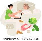 online dietitian consultation.... | Shutterstock .eps vector #1917463358