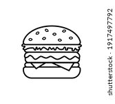 burger icon with cheese ... | Shutterstock .eps vector #1917497792