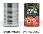 realistic detailed 3d canned...   Shutterstock .eps vector #1917529052