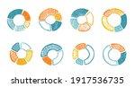 doodle hand drawn pie diagrams... | Shutterstock .eps vector #1917536735