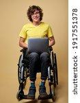 Man Disabled Student Preparing...