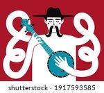 vector illustration with long... | Shutterstock .eps vector #1917593585