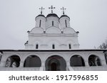 An Old White Stone Church In...