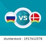 russia vs denmark euro 2020...   Shutterstock .eps vector #1917612578