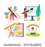 artist  journalist  content... | Shutterstock .eps vector #1917616832
