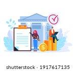 bank management service concept.... | Shutterstock .eps vector #1917617135