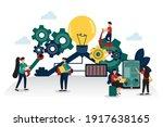 vector illustration working...   Shutterstock .eps vector #1917638165