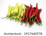 green and red chili pepper... | Shutterstock . vector #1917660578