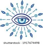 evil eye vector   symbol of... | Shutterstock .eps vector #1917674498