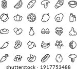 food line icon set   clam ... | Shutterstock .eps vector #1917753488