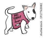 Bull Terrier Dog Lover Cartoon...