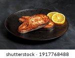 Fried Salmon Steak  Healthy...