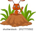 cartoon ants in the ant hill | Shutterstock .eps vector #1917775502