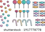 colorful candy lollipop icon set   Shutterstock .eps vector #1917778778